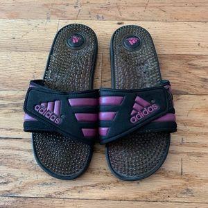 Adidas Magenta/Purple/Black Slippers/Slides US 9